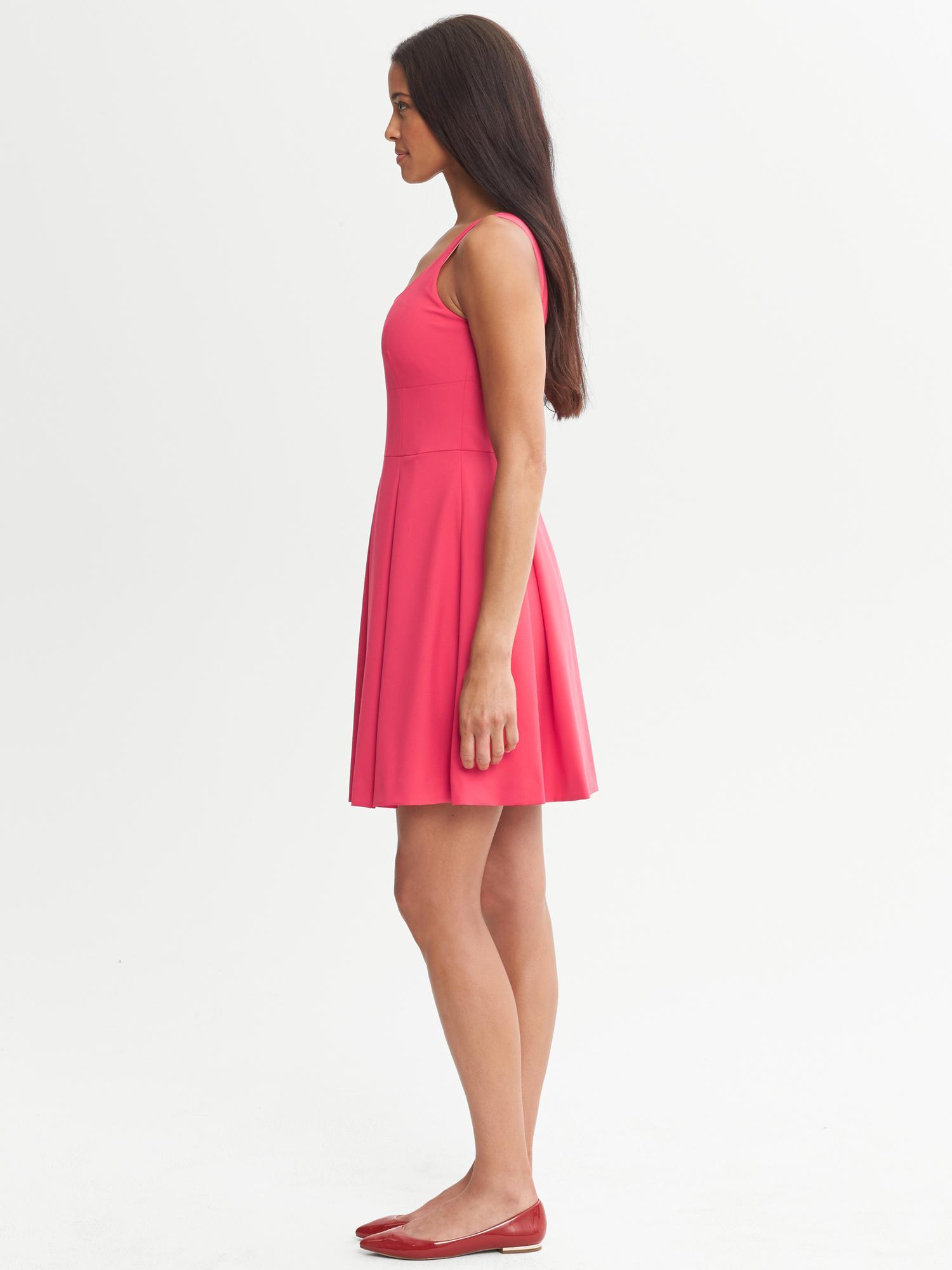 67f118f2067 Lyst - Banana Republic Br Monogram Pleated Dress in Pink