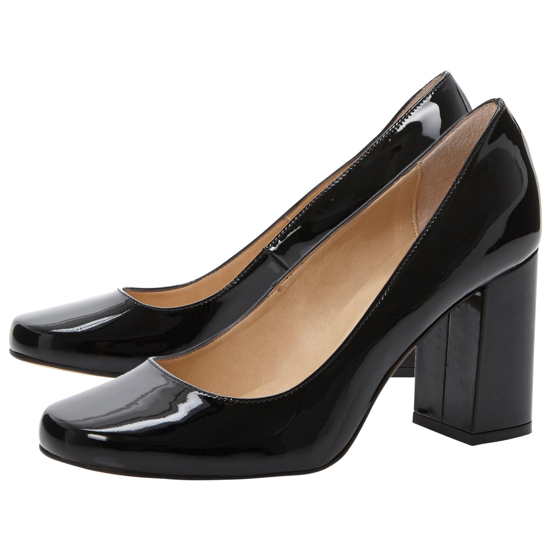c1d4ca5807c Dune Agaze Block Heel Court Shoes in Black - Lyst