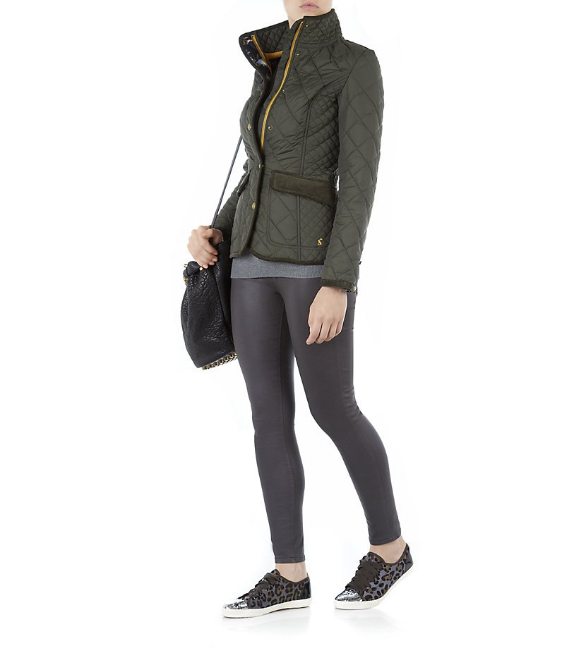 7ef2dd81f36fe Joules Moredale Quilted Jacket in Green - Lyst