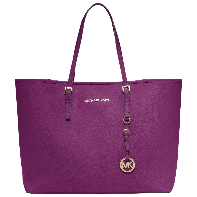 Michael By Michael Kors Jet Set Travel Tote Handbag in Purple ...