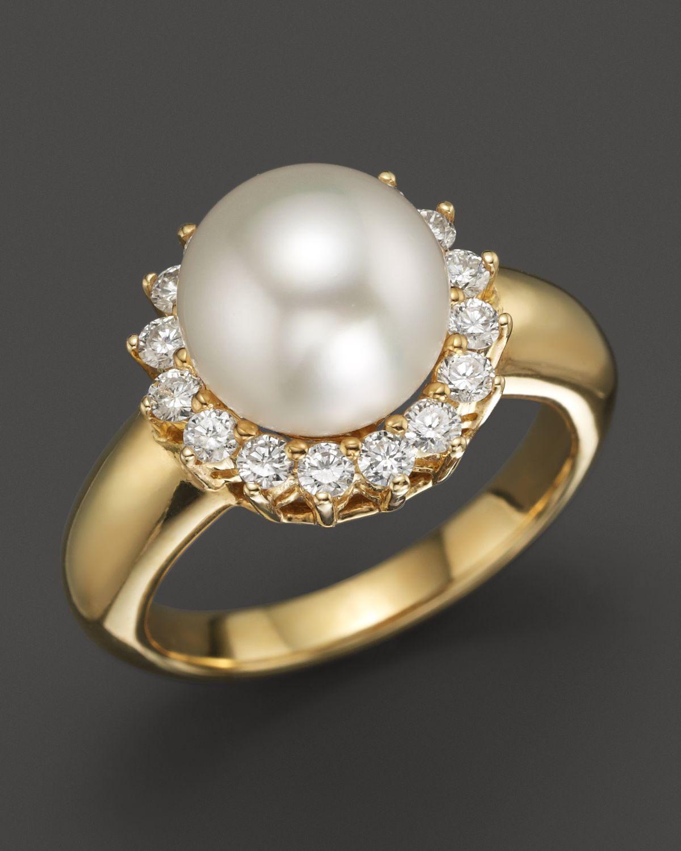 Tara Pearls 18k Yellow Gold Natural Color White South Sea