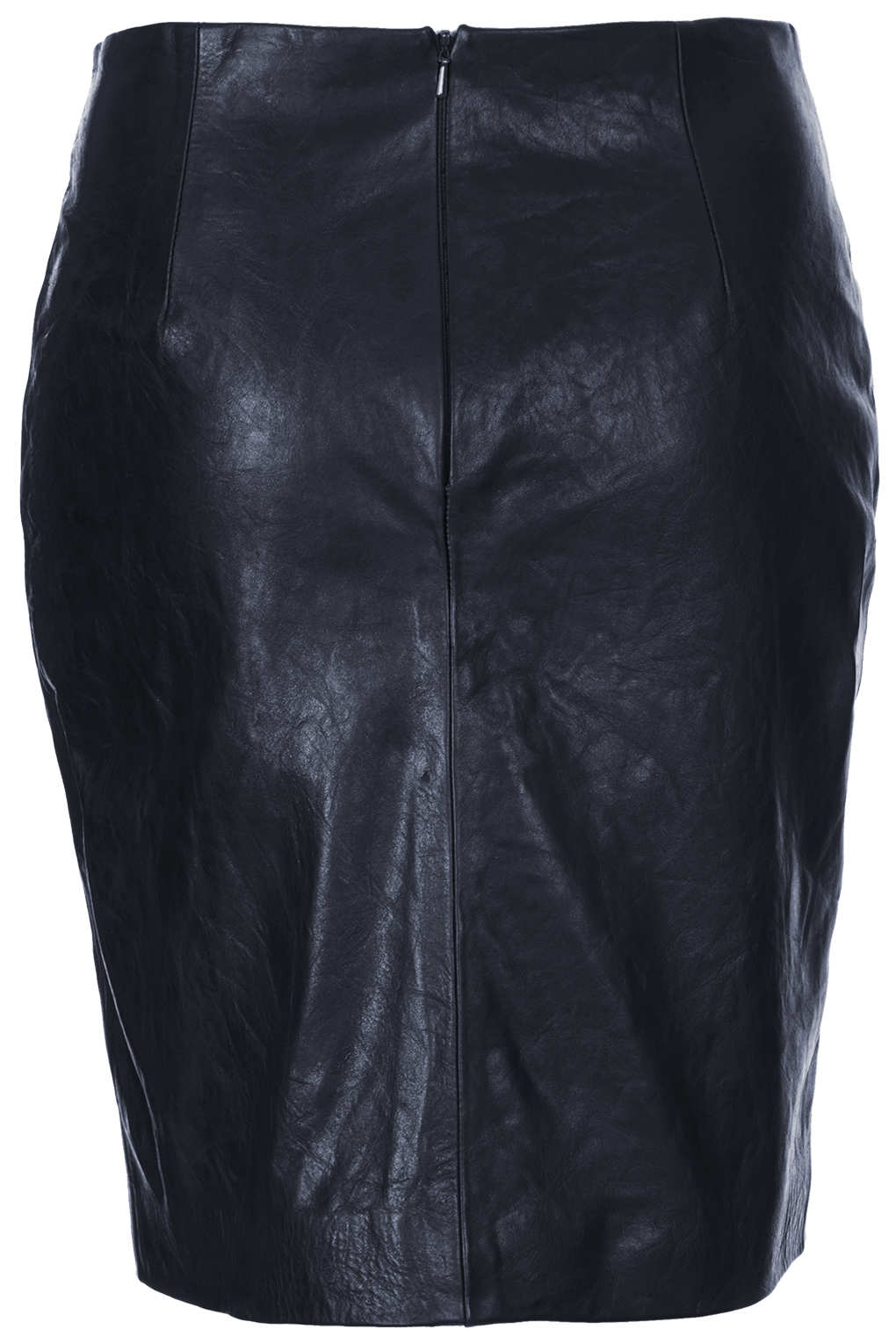 Topshop Leather Pencil Skirt By Boutique in Blue | Lyst