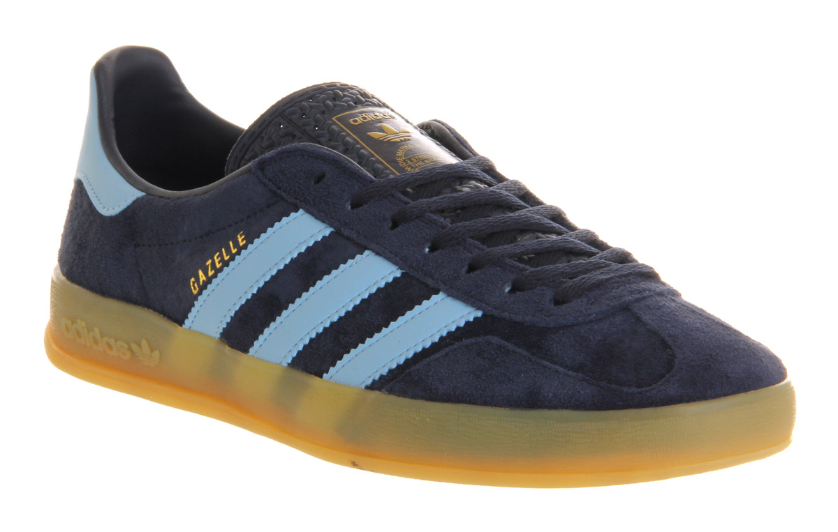 Lyst - adidas Gazelle Indoor New Navy Argentina Blue in Blue for Men ab67a8586