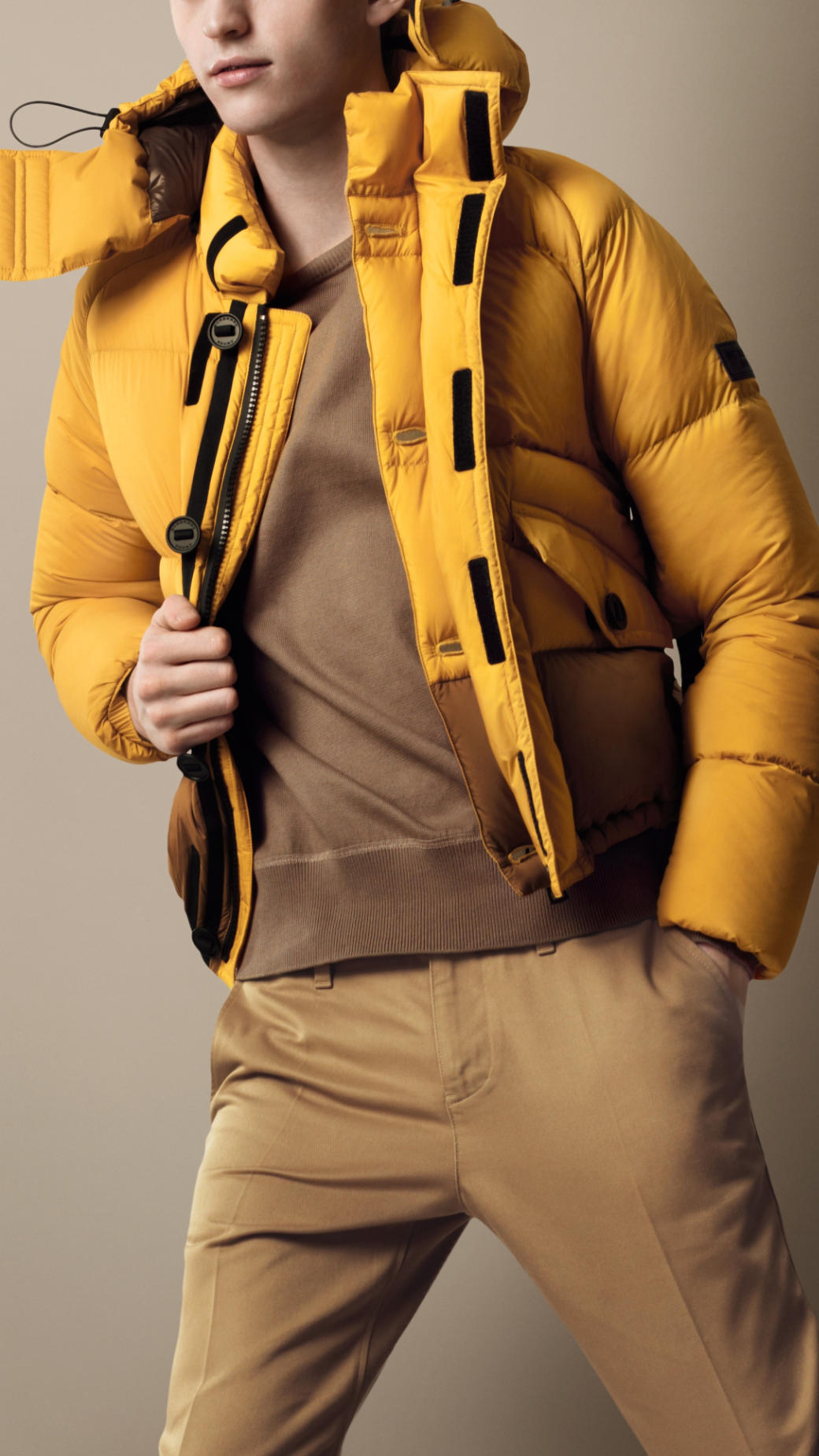 Lyst Burberry Sport Collection Colour Block Puffer