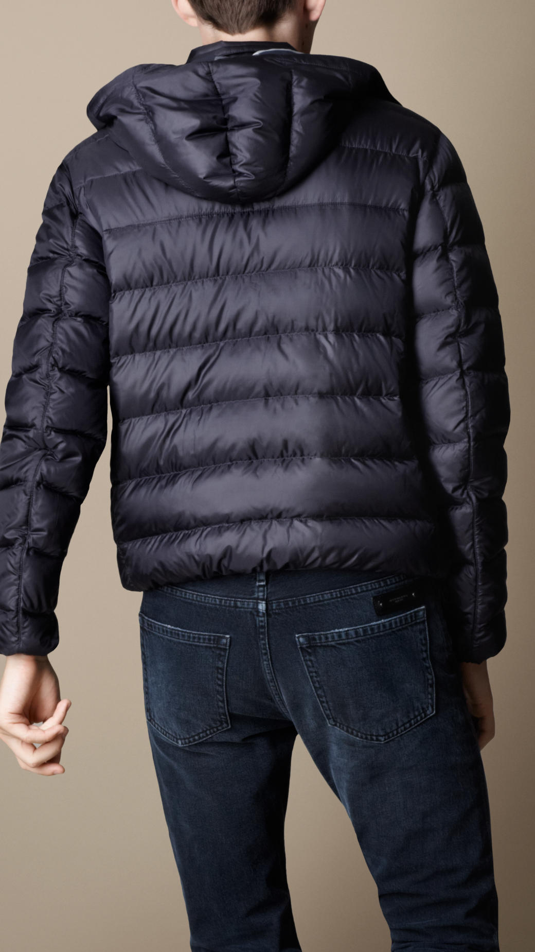 Lyst Burberry Downfilled Puffer Jacket In Blue For Men