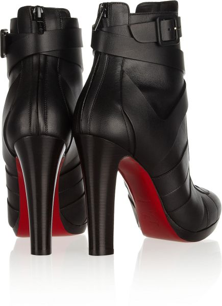 christian louboutin ankle boots Black leather | The Little Arts ...