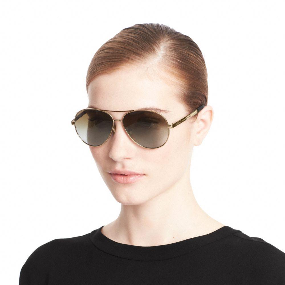 80b83c558acb COACH Elaina Sunglasses in Metallic - Lyst