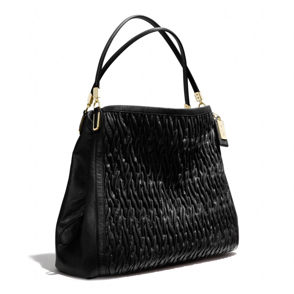coach madison phoebe shoulder bag in gathered twist