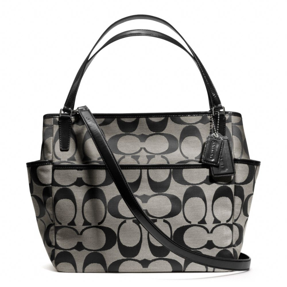lyst coach baby bag tote in signature c fabric in metallic. Black Bedroom Furniture Sets. Home Design Ideas