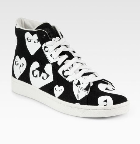 Comme Des Gar 231 Ons Canvas Hightop Sneakers In White For Men