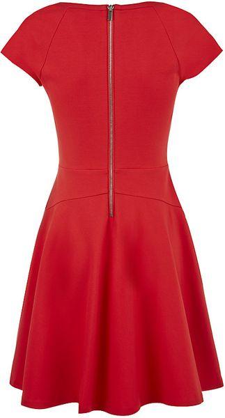 Diane Von Furstenberg Delyse Fit And Flare Dress In Red Lyst