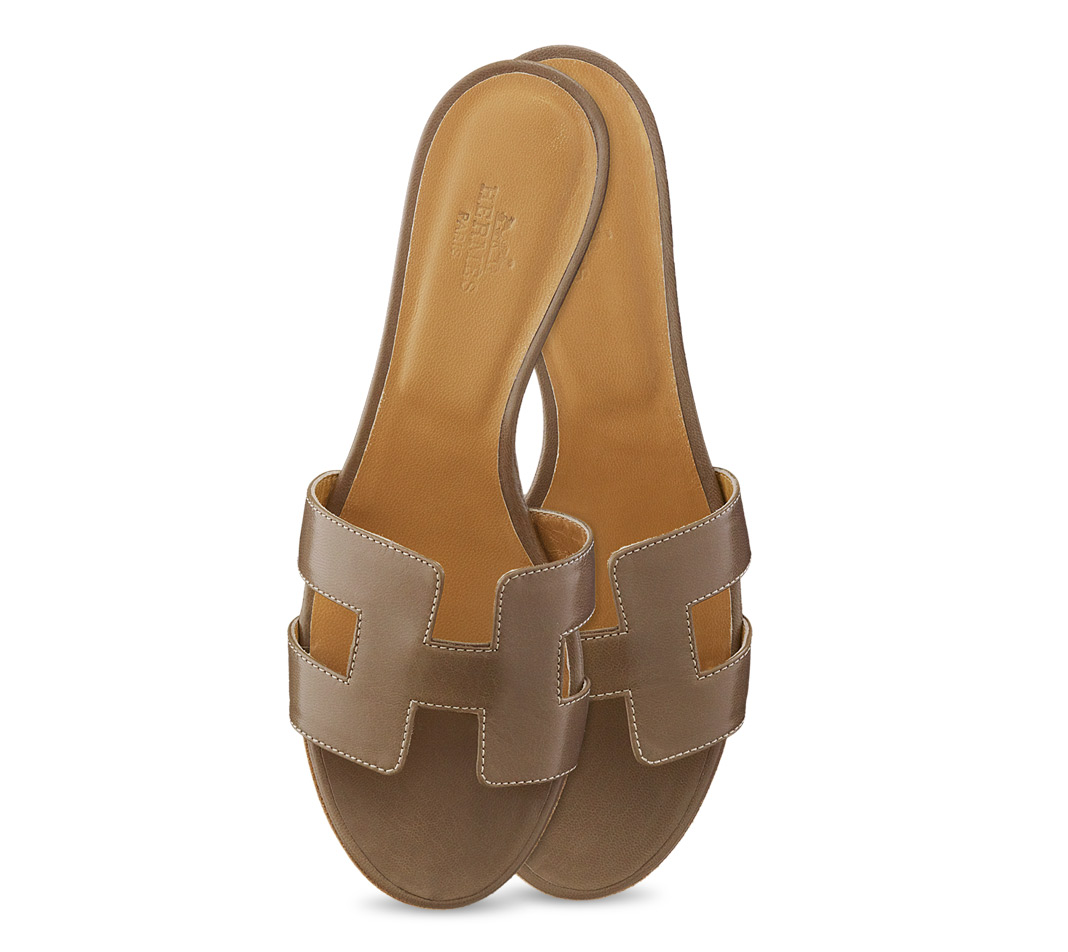 Cool Multicolour Leather HERMS Sandals  Vestiaire Collective