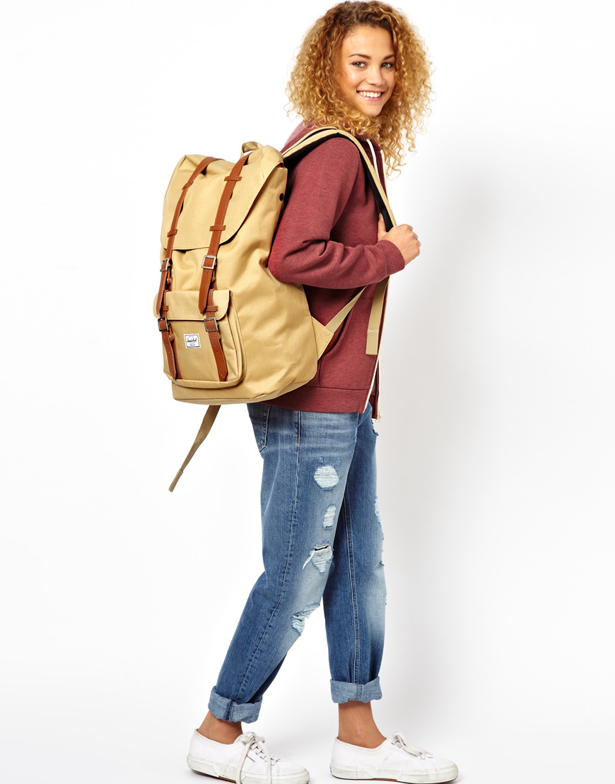 Lyst - Herschel Supply Co. Little America Backpack in Natural