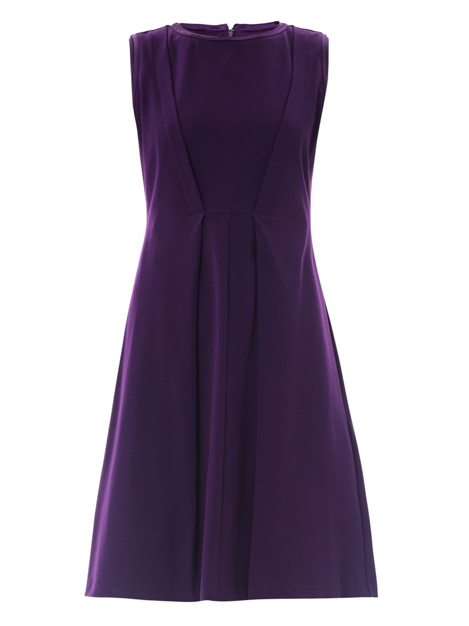 Max Mara Studio Genepi Dress in Purple