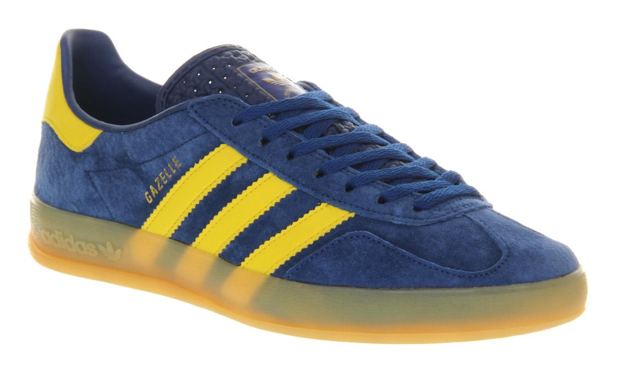 adidas gazelle yellow & blue
