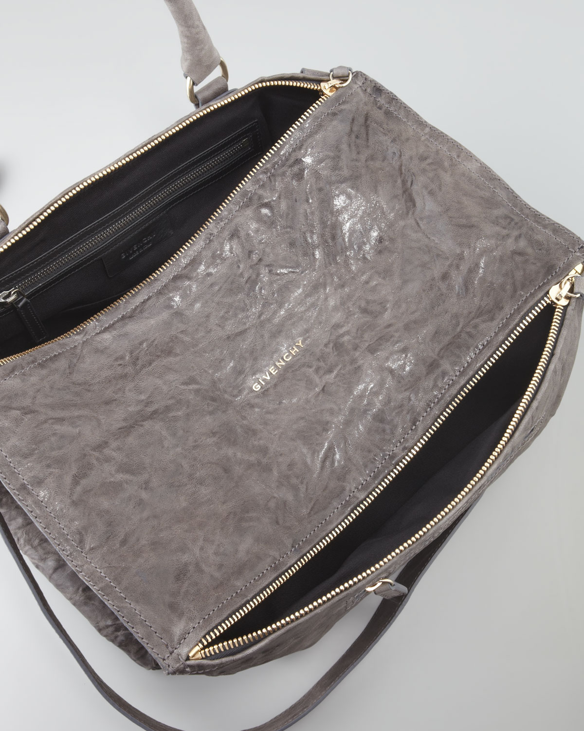 Lyst - Givenchy Pandora Large Pepe Sheepskin Satchel Bag Gray in Gray 32f65be752c8d