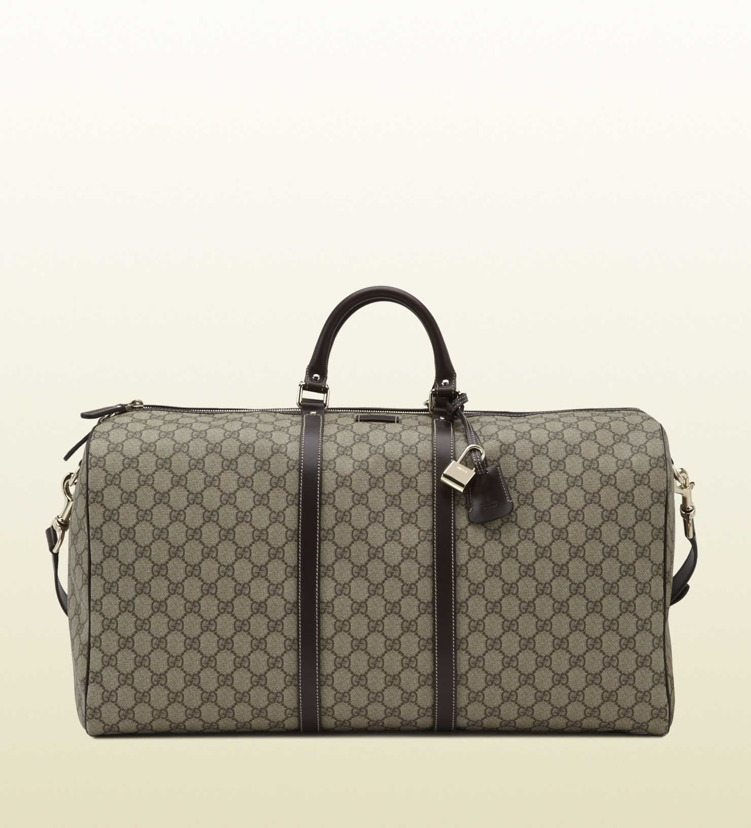 Gucci Large Carry On Duffle Bag In Brown For Men Lyst