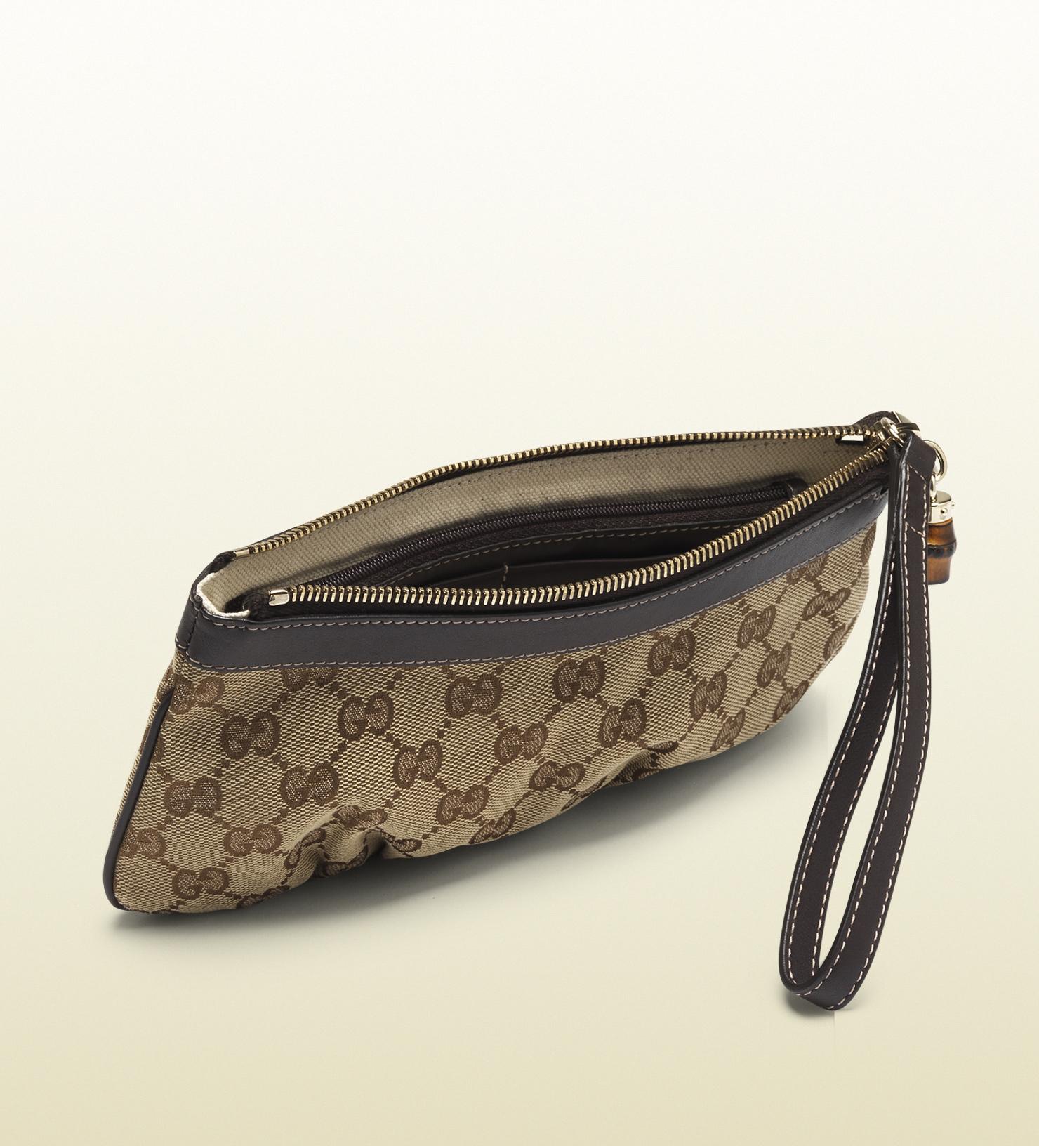 Gucci Original Gg Canvas Wristlet in Brown for Men
