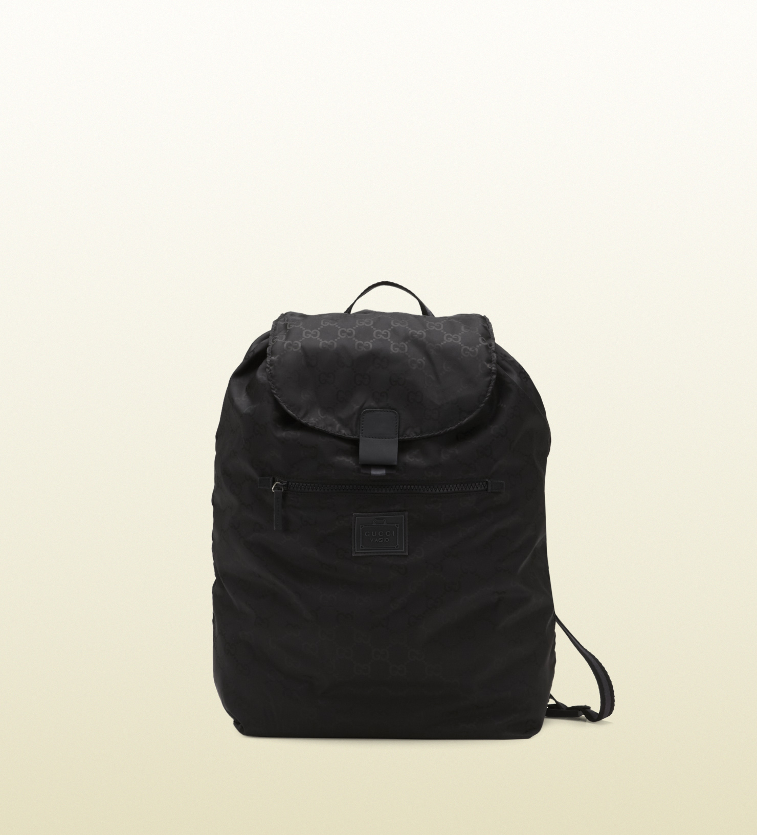 Gucci Black Gg Nylon Backpack From Viaggio Collection in ...