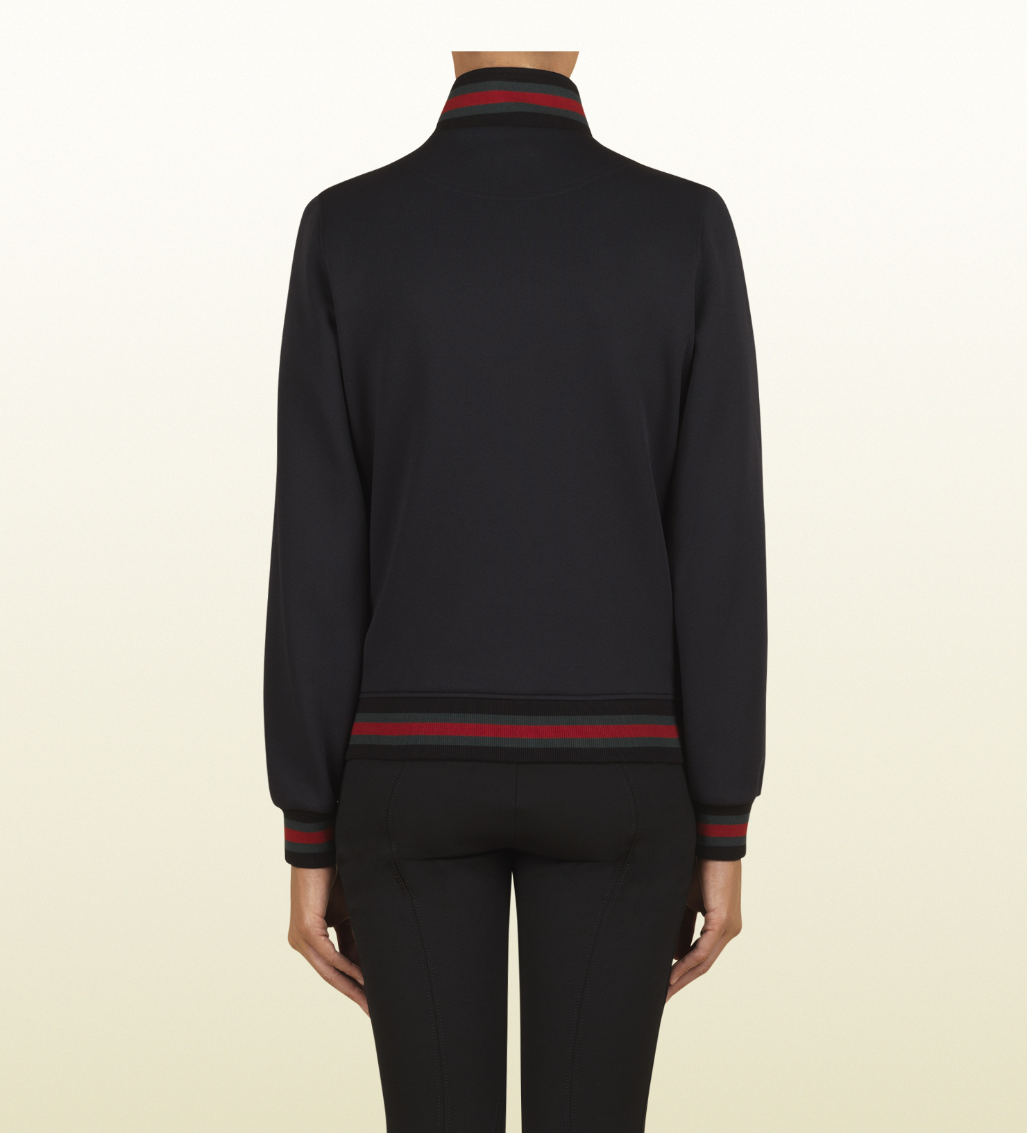 7a1445ece04 Lyst - Gucci Zipup Sweatshirt with Gucci Crest From Equestrian ...