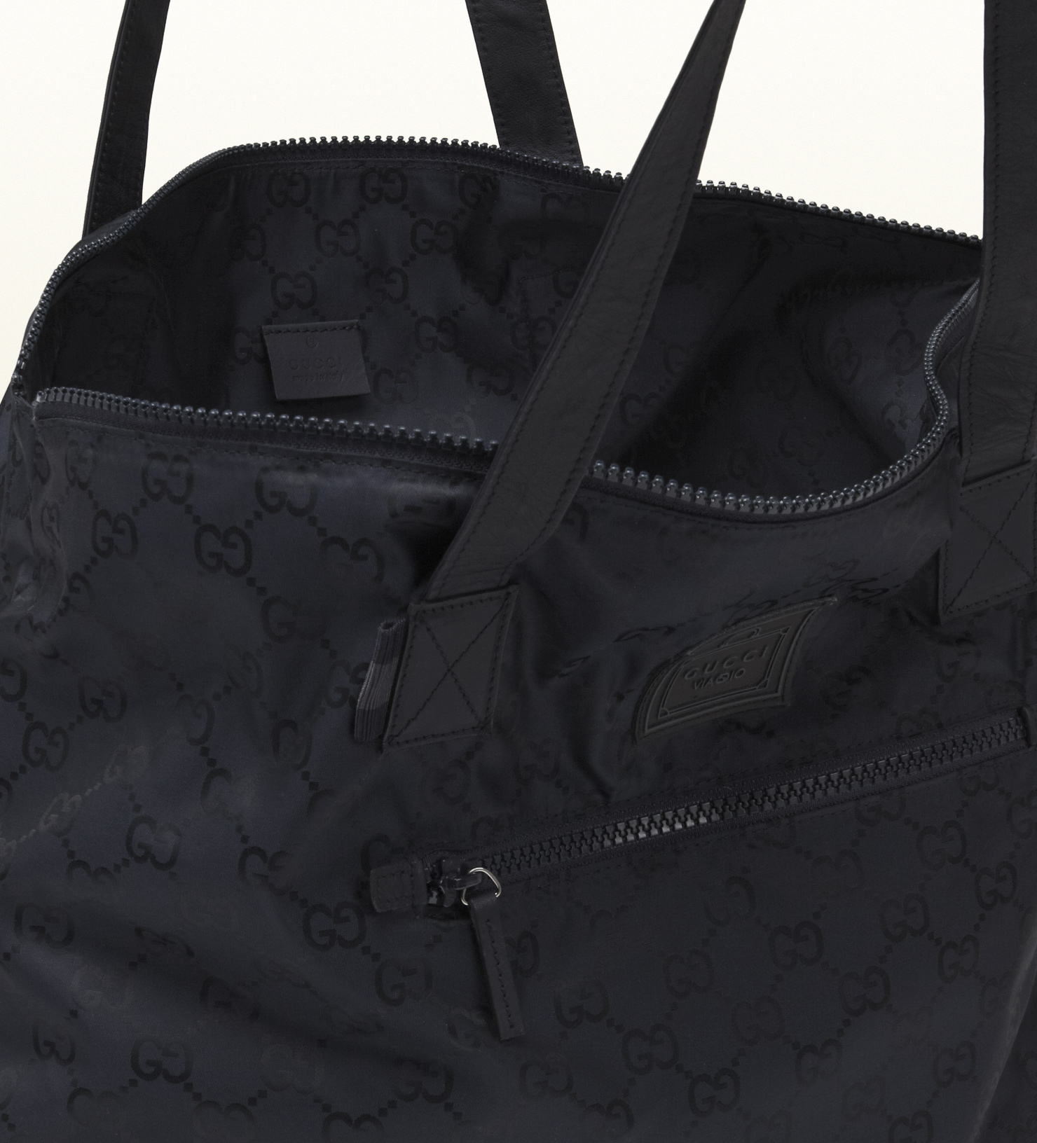 acfa3040ae Men's Blue Gg Nylon Duffel Bag From Viaggio Collection