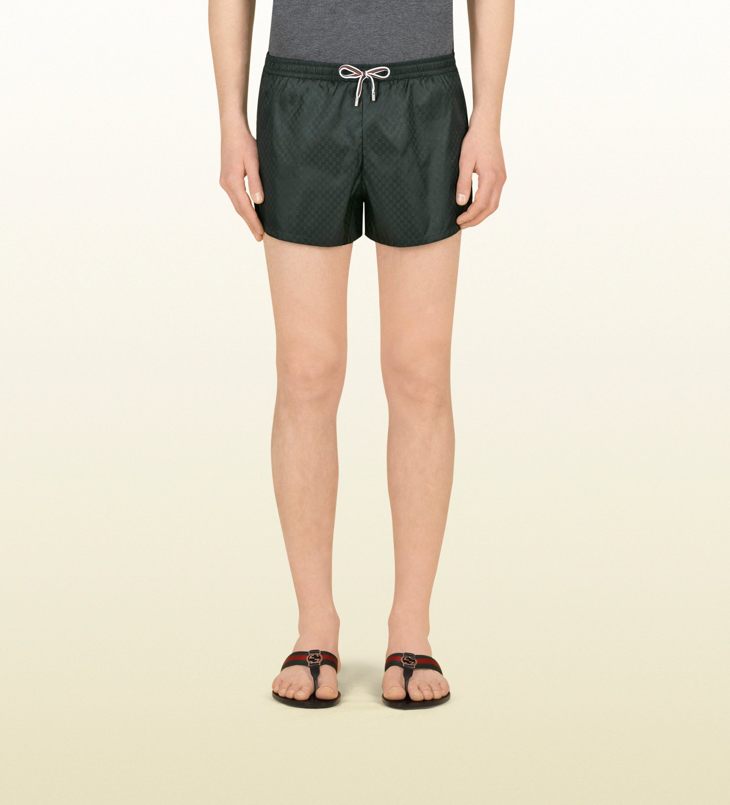 b5576ceb32 Gucci Dark Green Mini Gg Nylon Swim Short in Green for Men - Lyst