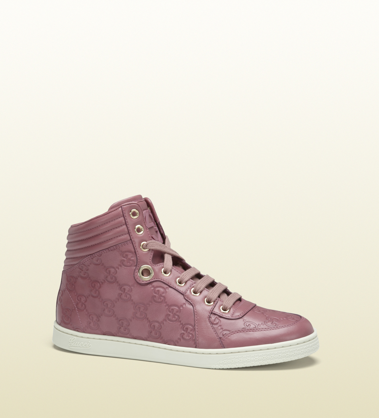 426e2170f4a Gucci Coda Dark Pink Guccissima Leather Hightop Sneaker in Pink for ...