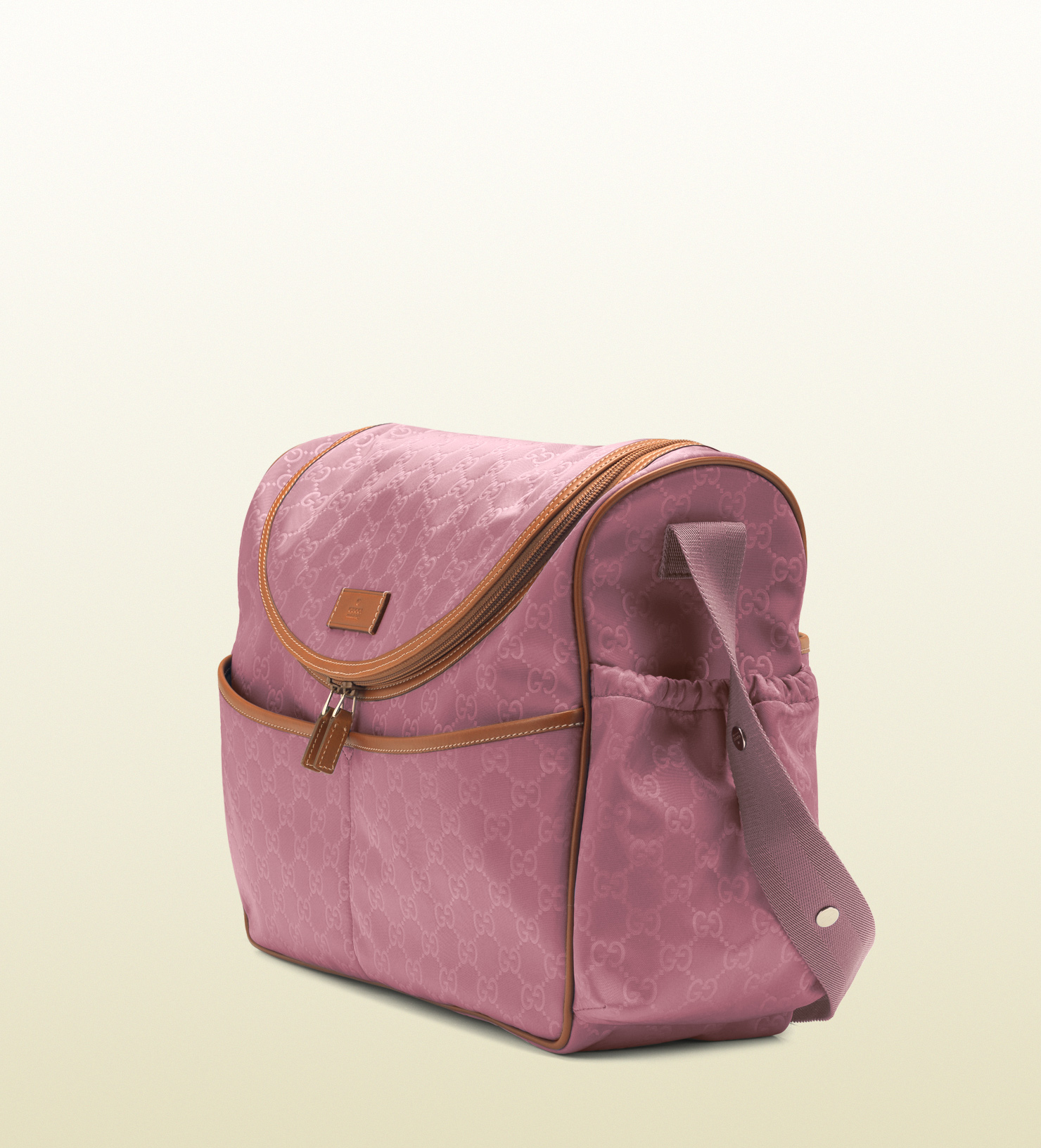 Gucci Dark Pink Nylon Guccissima Diaper Bag In Pink Lyst