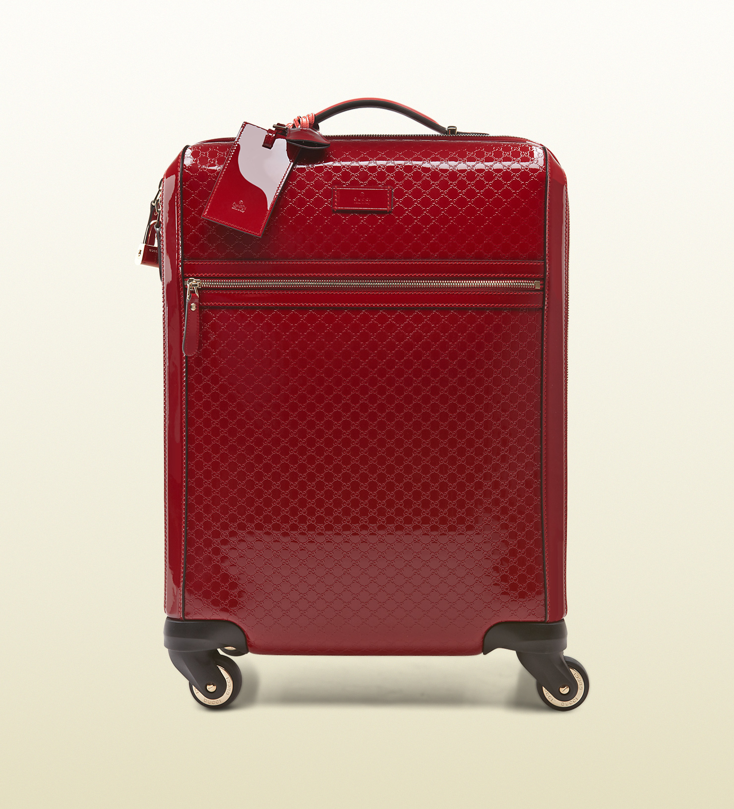 Gucci Microssima Patent Leather Carry-on Suitcase in Red for Men ...