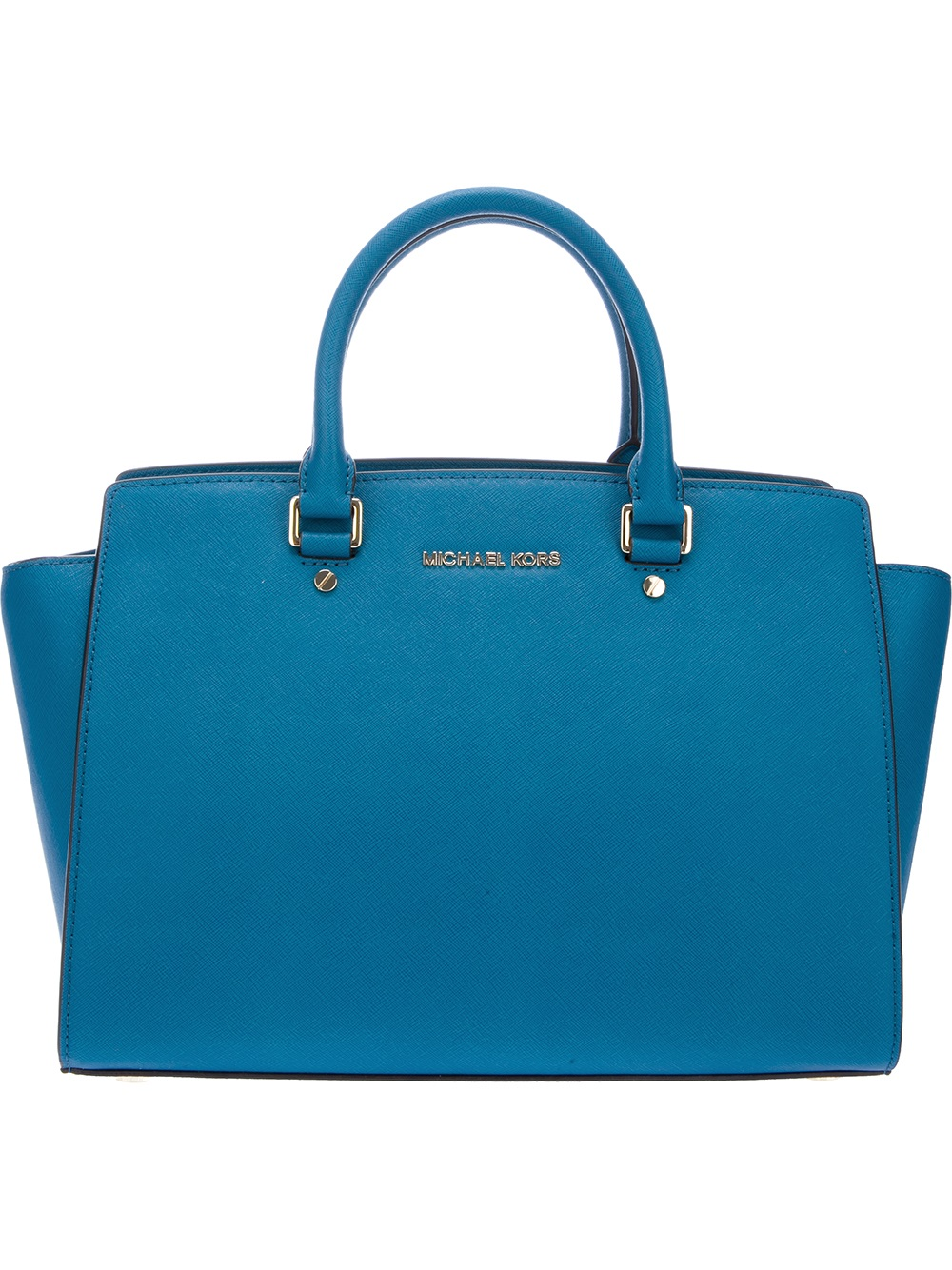 michael michael kors selma handbag in blue turquoise lyst