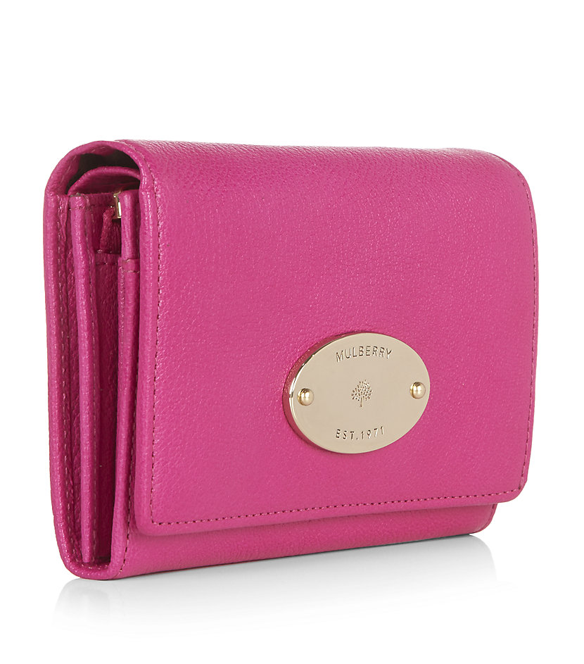 b7893661c5 ... wholesale mulberry french purse in pink lyst 6096c d374a