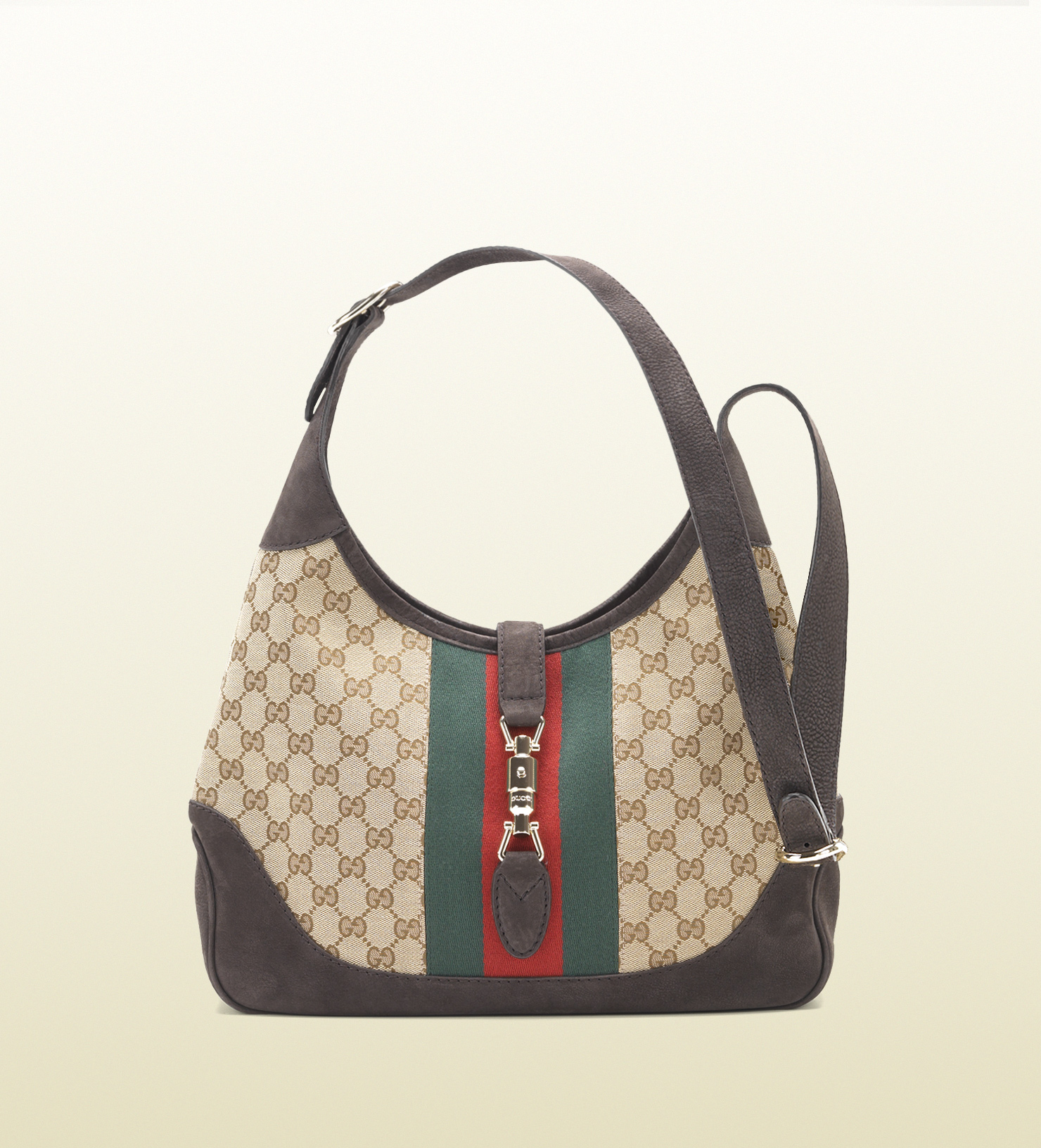 7babf24f8e8 Lyst - Gucci Jackie Shoulder Bag in Natural