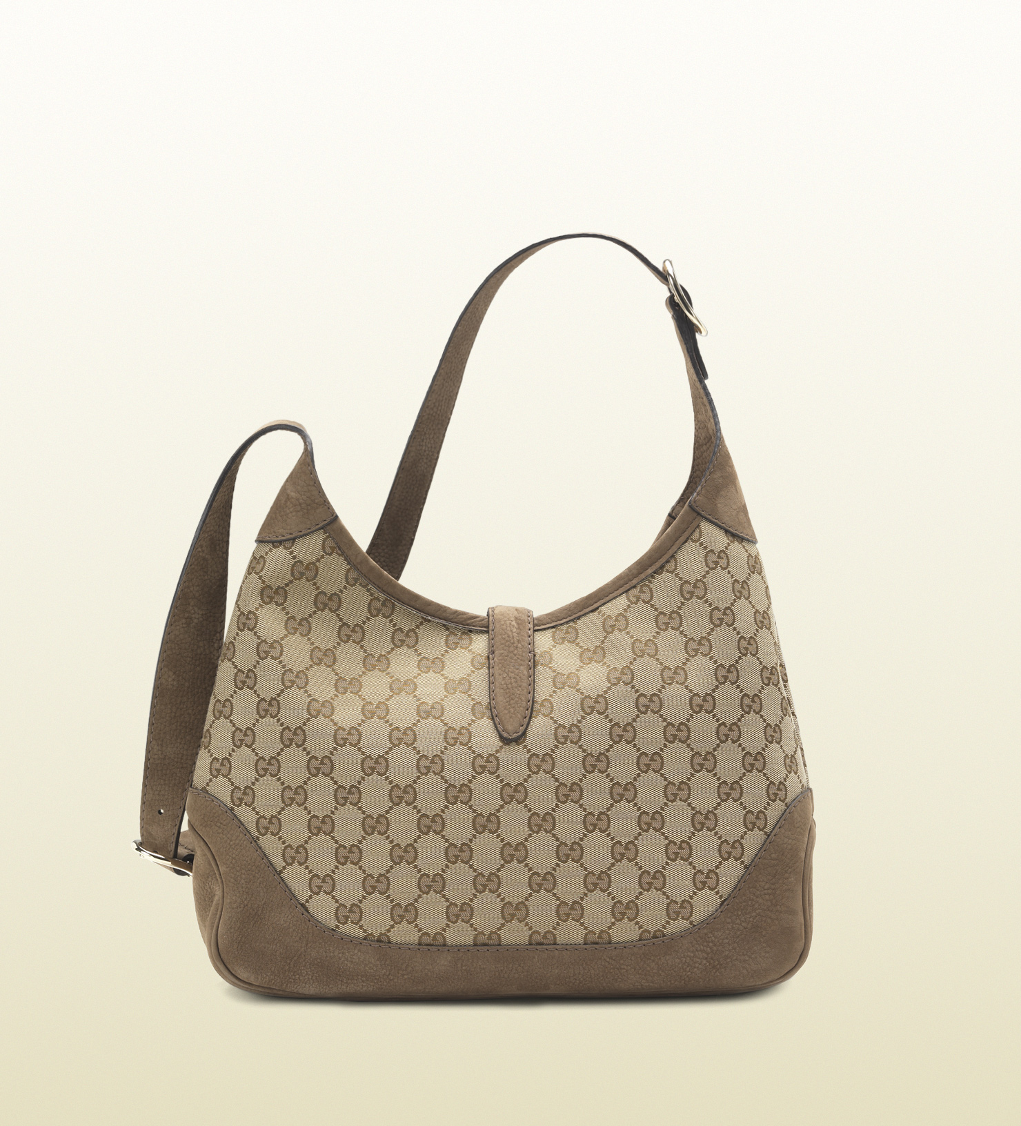 8227a8a6c9430 Gucci Jackie Original Gg Canvas Shoulder Bag in Gray - Lyst