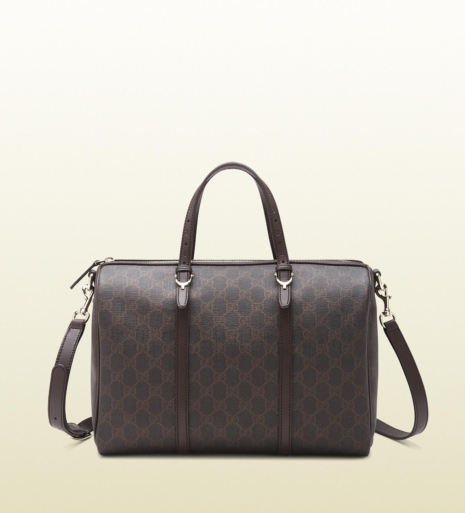 Lyst - Gucci Nice Gg Supreme Canvas Boston Bag in Gray 2acfd1e66e860