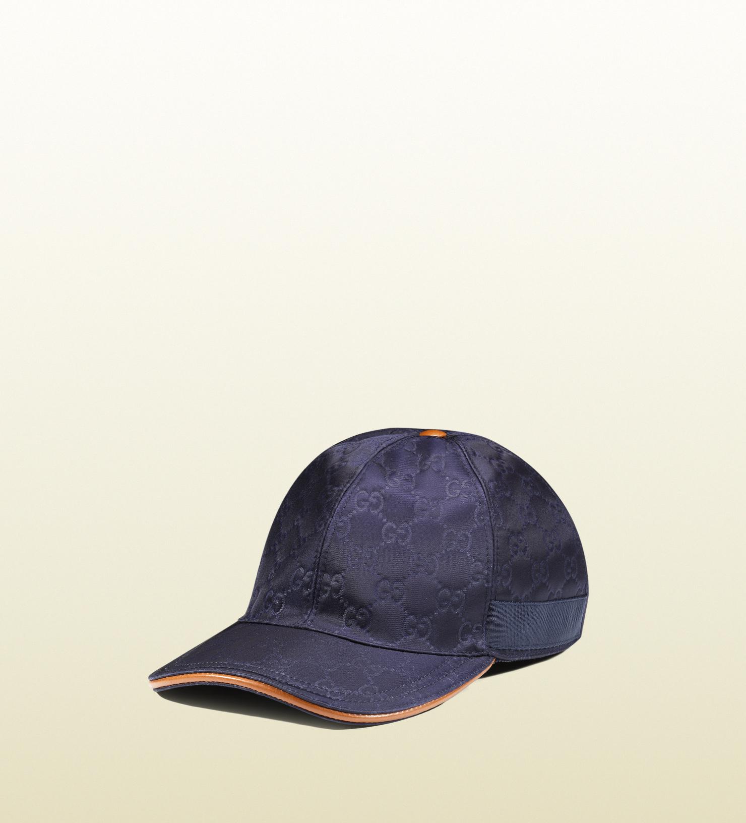 0f350d72 Men's Blue Gg Pattern Baseball Hat with Web Detail