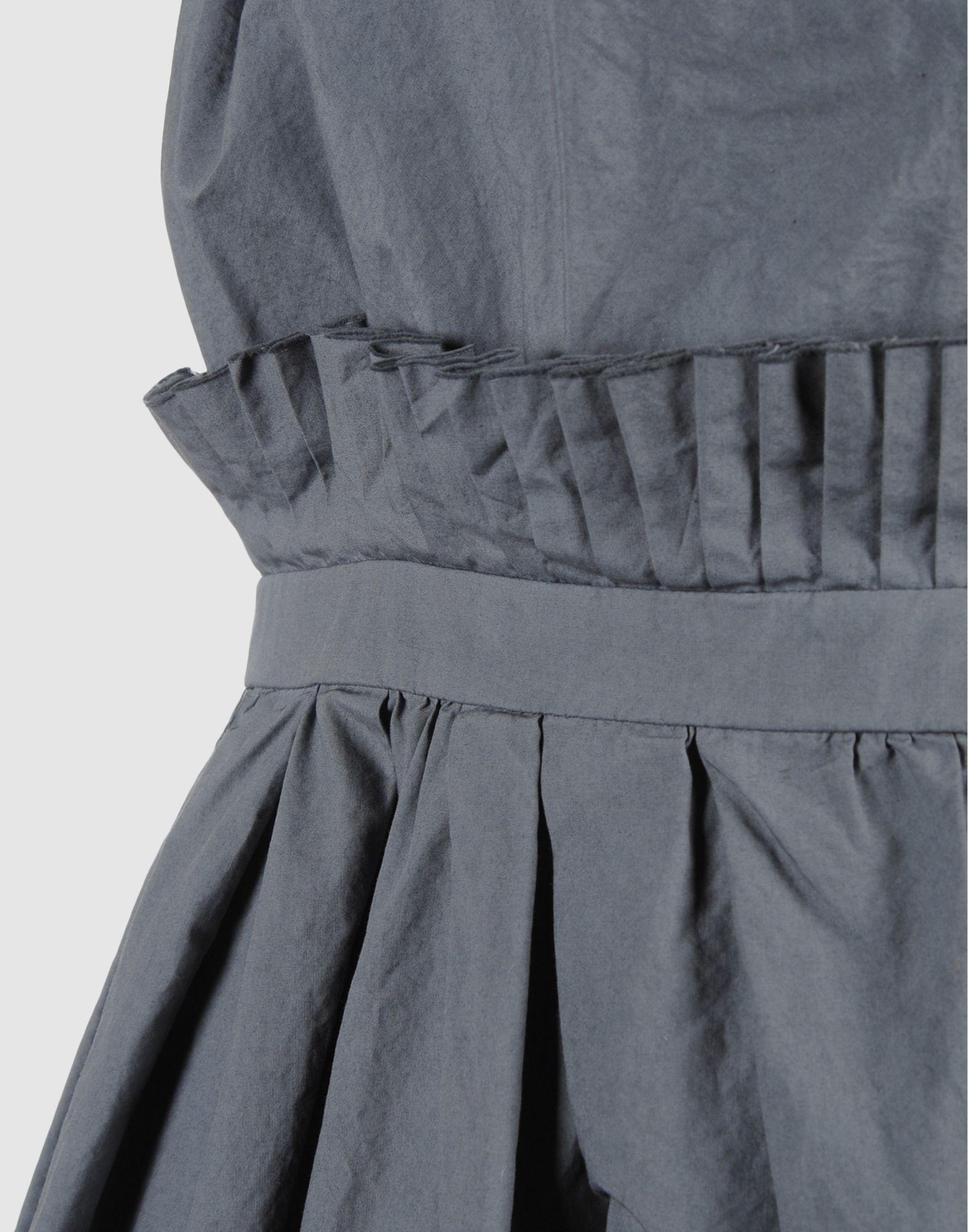 Lyst Pierre Darre Short Dress In Gray