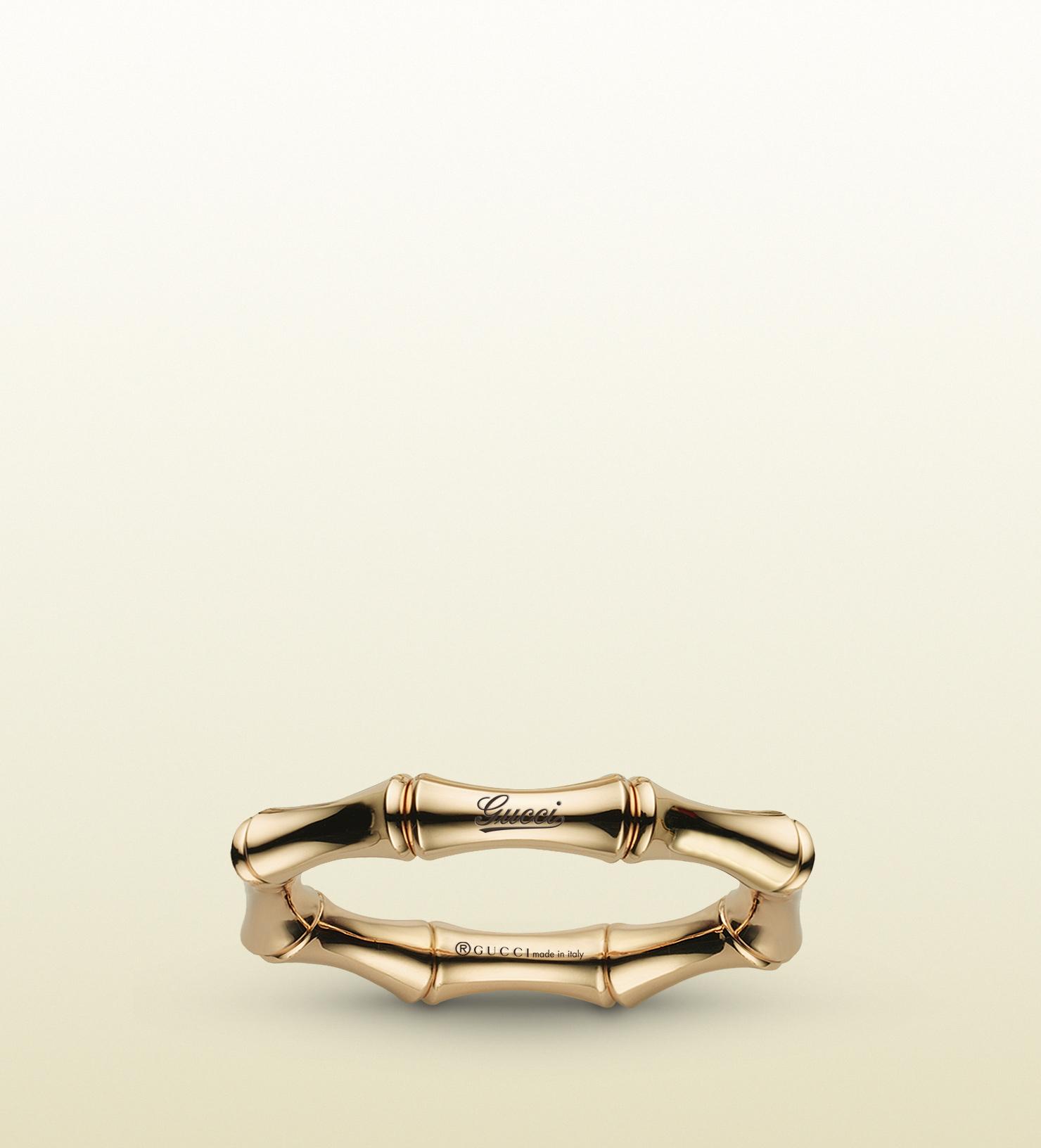 468c12108b05d Women's Metallic Bamboo Spring Ring In Yellow Gold