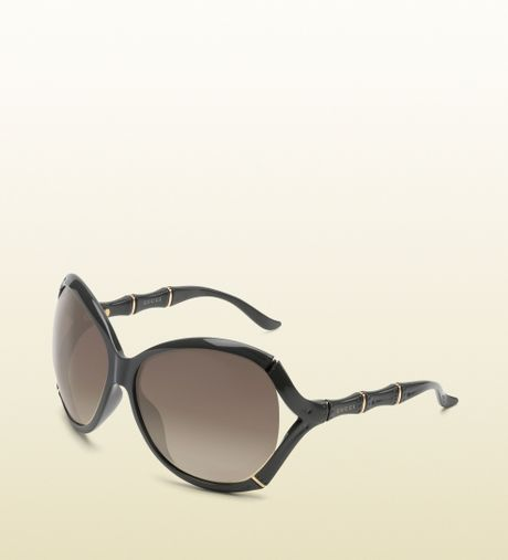 Gucci Bamboo Frame Glasses : Gucci Oversized Oval Frame Sunglasses with Bamboo Effect ...