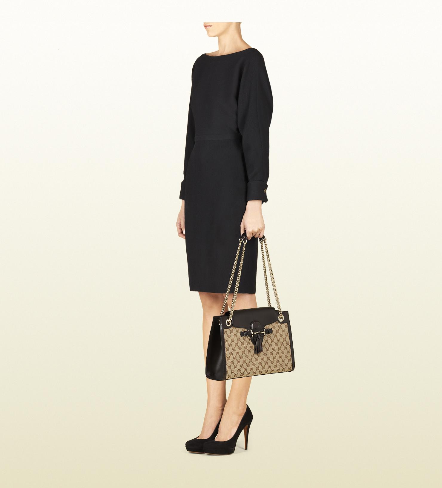 c8857048ff43f Lyst - Gucci Emily Original Gg Canvas Chain Shoulder Bag in Brown for Men