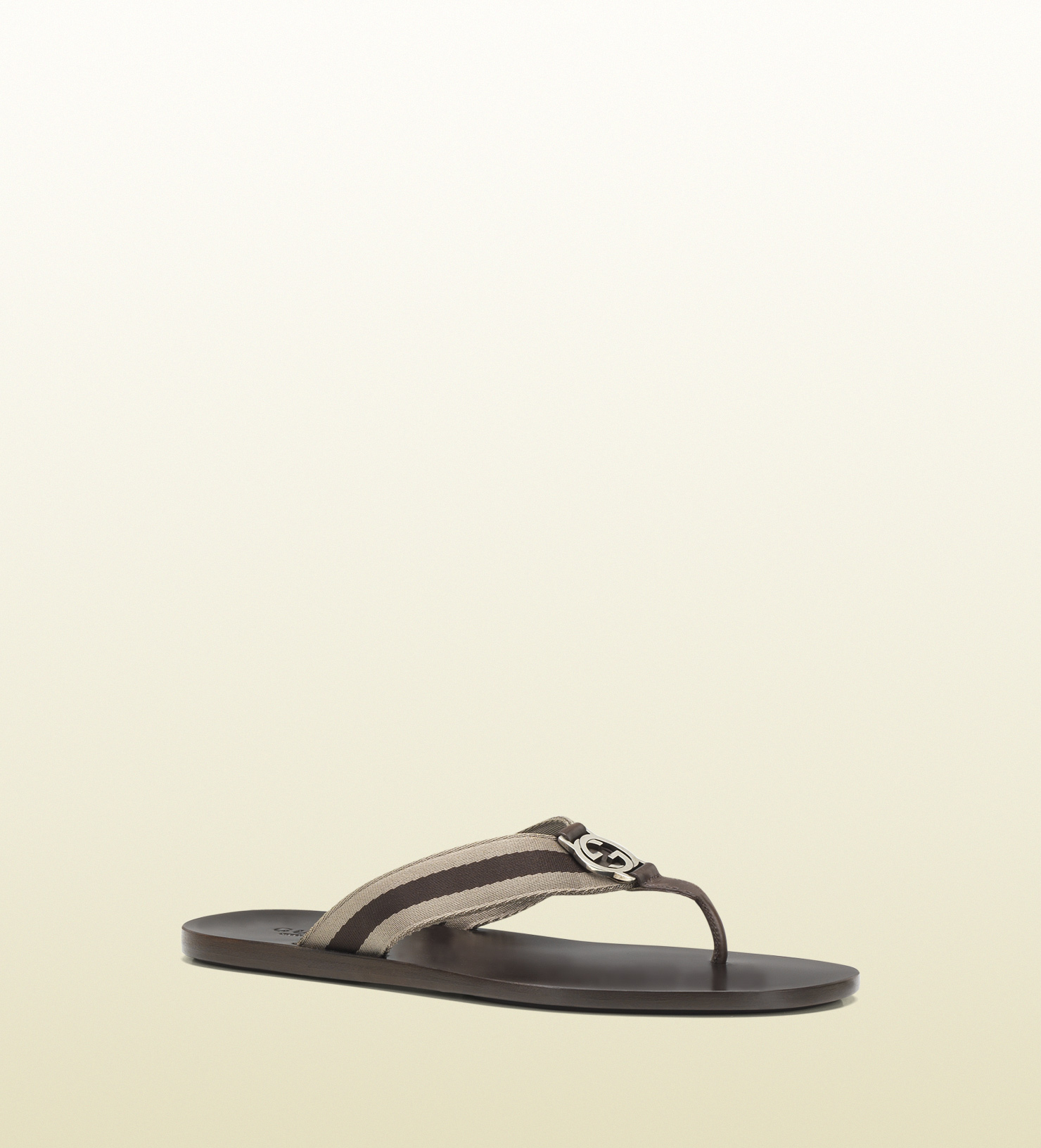 36b91ef394c Lyst - Gucci Nylon Web Thong Sandal in Natural for Men