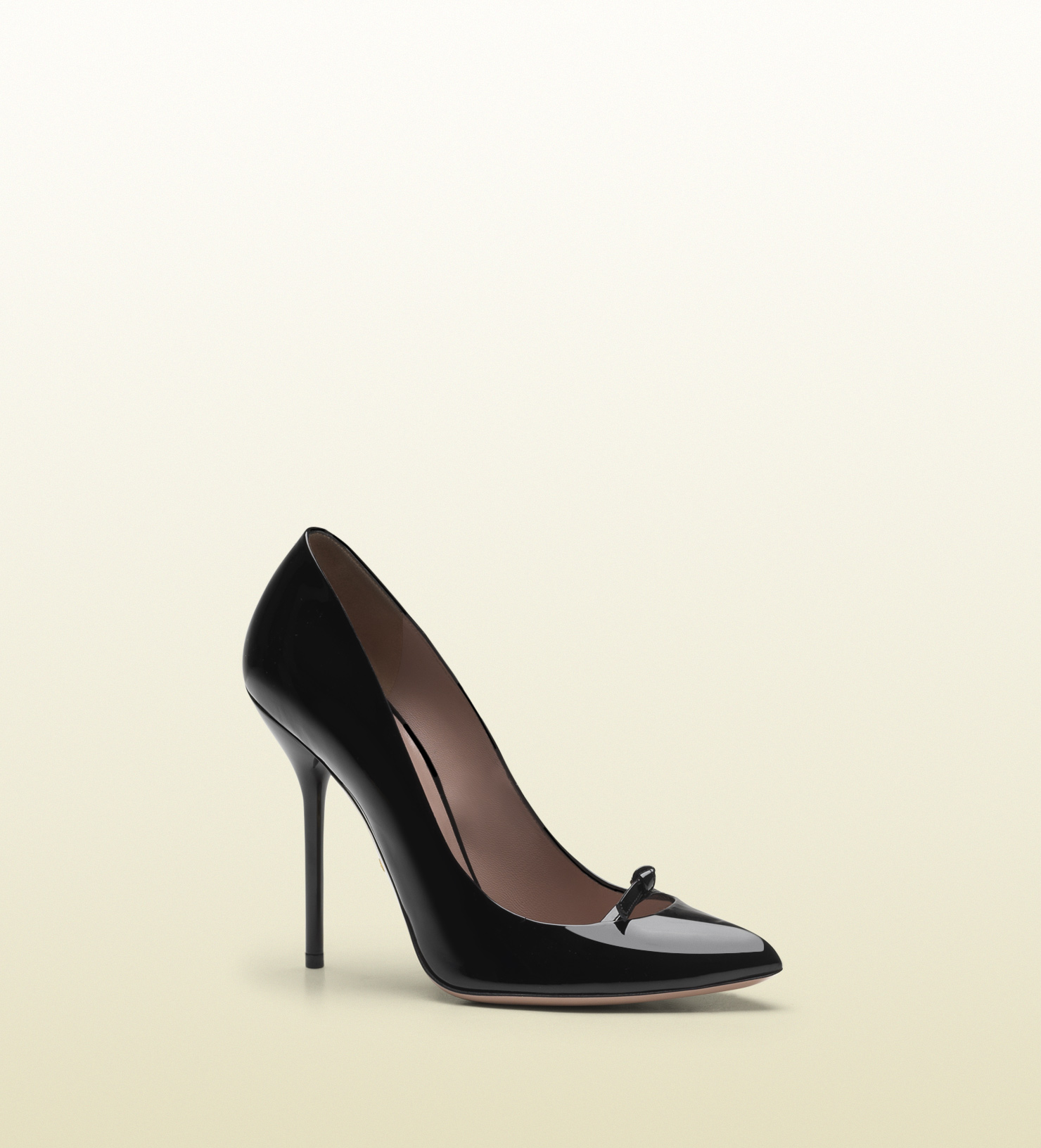 b3d235831 Gucci Patent Leather High Heel Pump in Black - Lyst