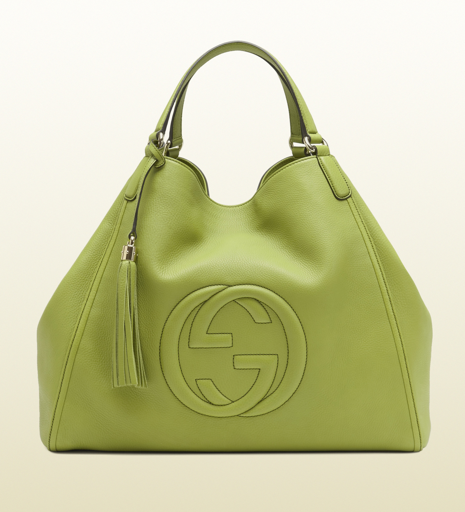 f61f245874e5 Lyst - Gucci Soho Apple Green Leather Shoulder Bag in Green