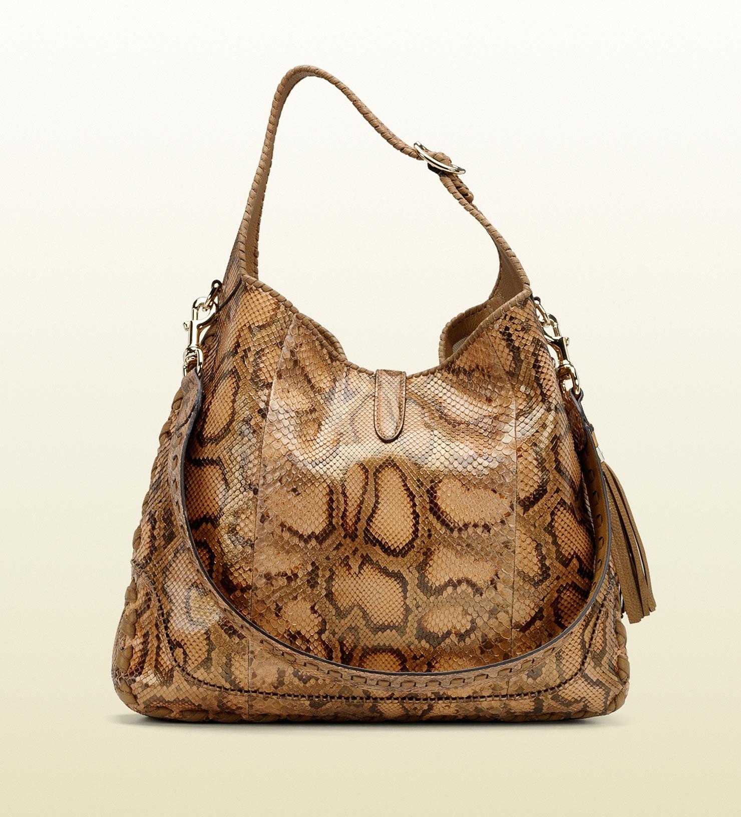 ff070e026 Gucci New Jackie Python Shoulder Bag - Lyst