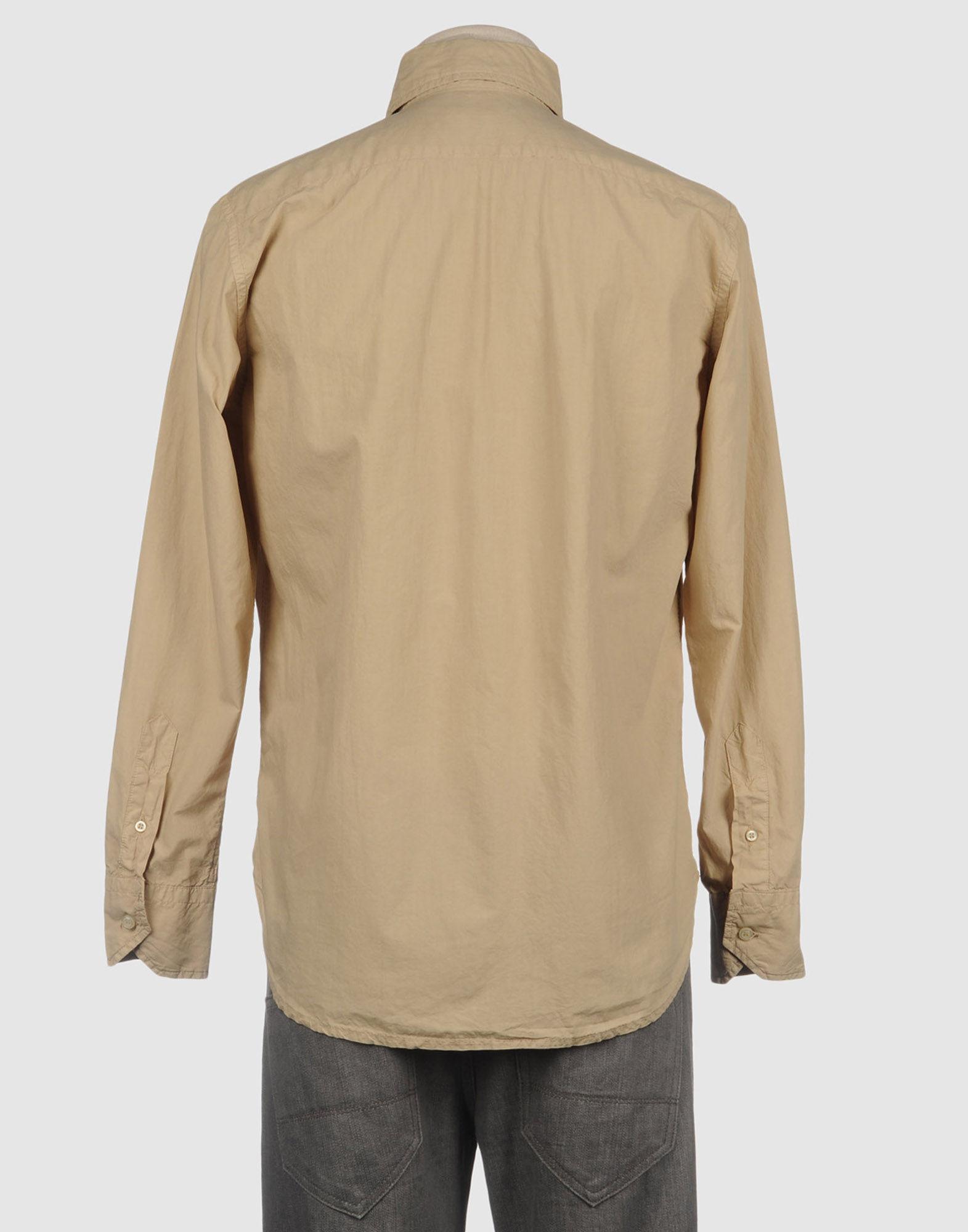 Mason 39 S Long Sleeve Shirt In Beige For Men Lyst