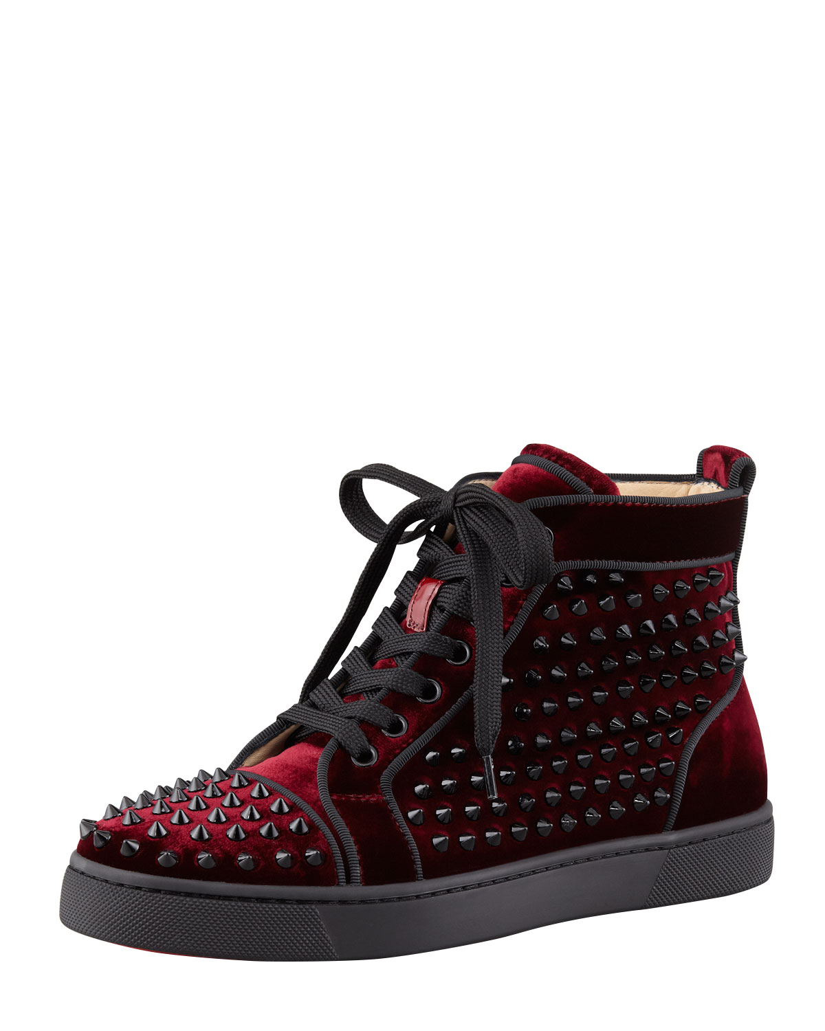 christian louboutin high top sneakers for women. Black Bedroom Furniture Sets. Home Design Ideas