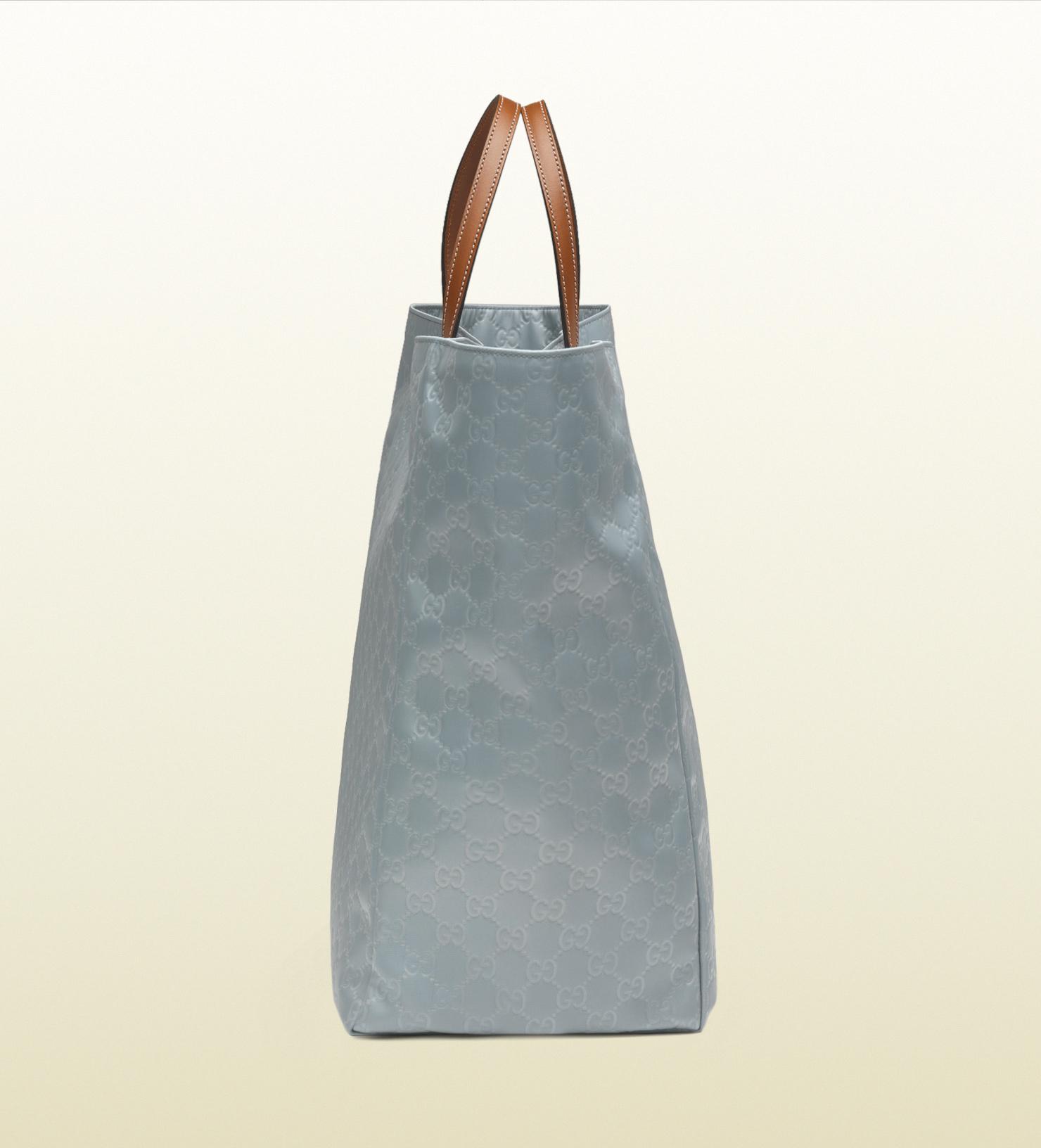 eef1b7ca464 Lyst - Gucci Large Light Blue Nylon Guccissima Tote in Blue for Men