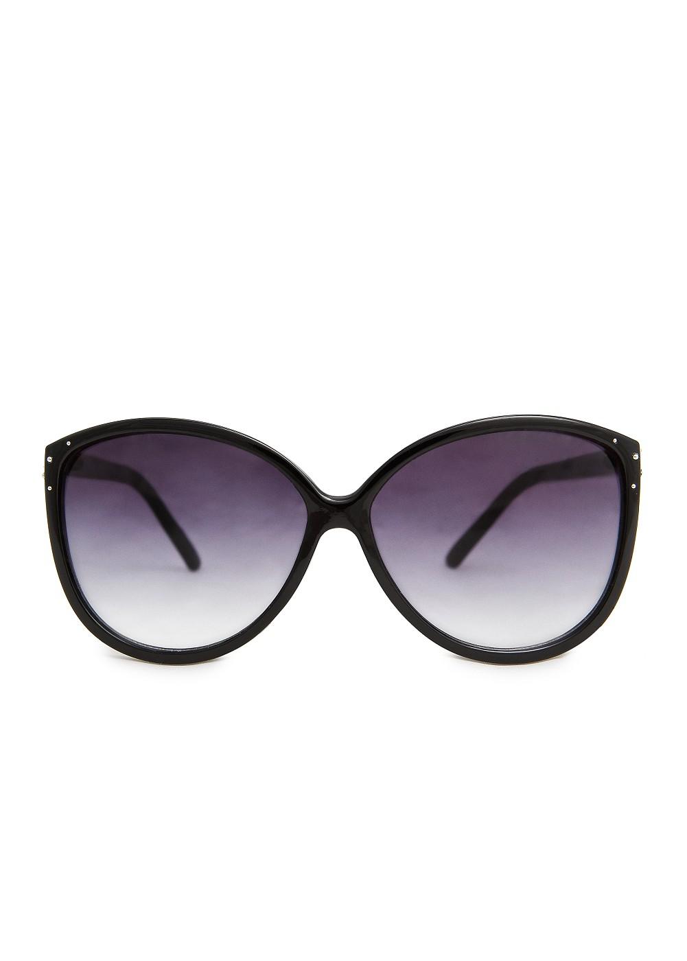 Mango Metal Appliqués Cateye Sunglasses In Black