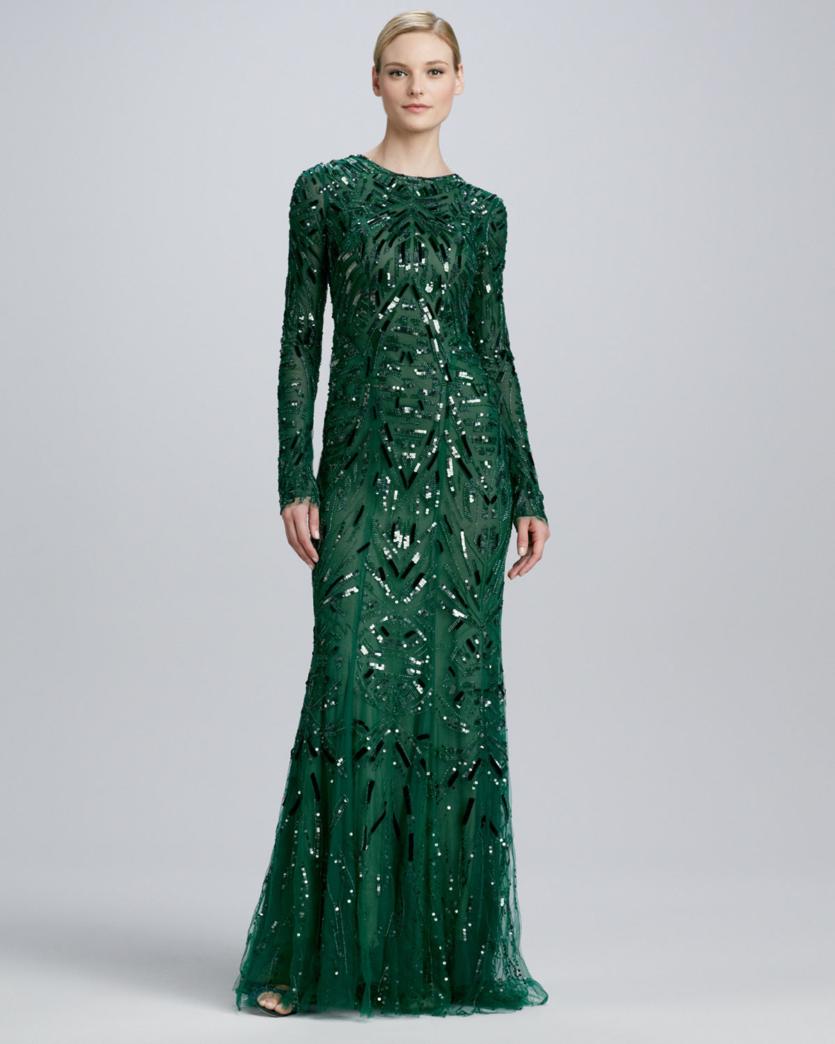 Zac Posen Taffeta Jacquard Gown Jet Black moreover Set moreover Monique Lhuillier Beaded Embroidered Long Sleeve Gown Emerald furthermore Set as well Thing. on oscar dresses for sale