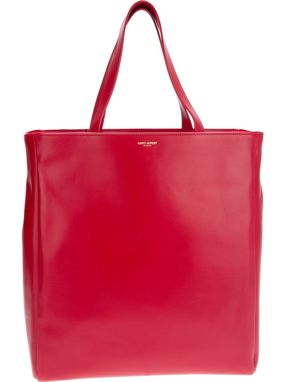 saint laurent classic shopper tote in red lyst. Black Bedroom Furniture Sets. Home Design Ideas