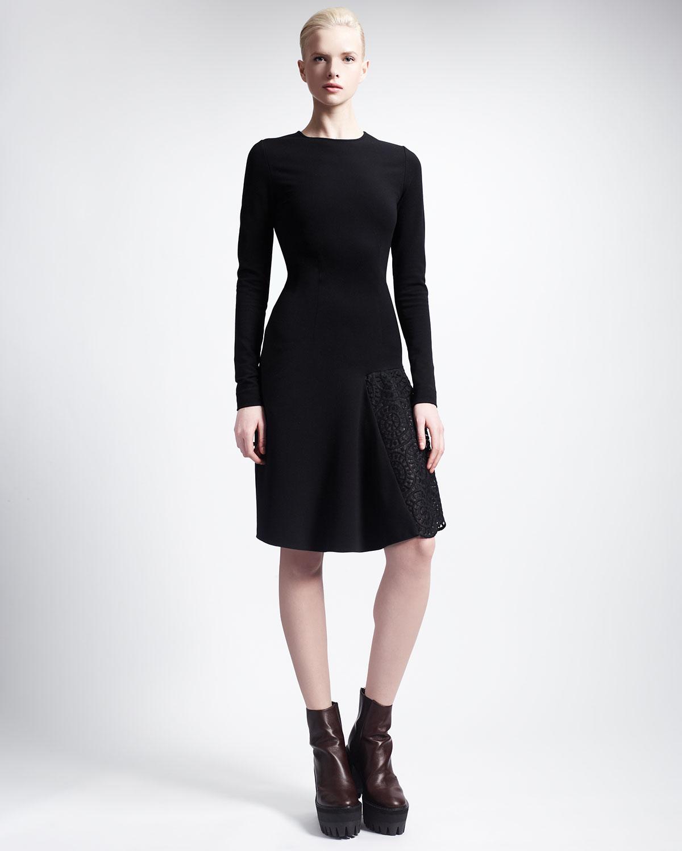 lace fitted midi dress - Black Stella McCartney iMFpBTx6WC